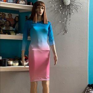 Dresses & Skirts - Ombré  blue and pink dress.